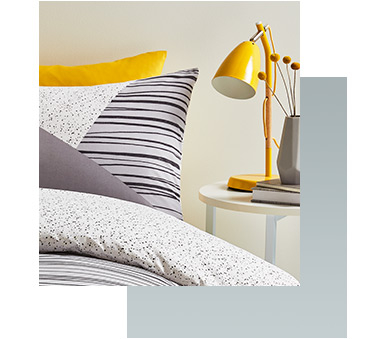 Shine a light on your new colour scheme with a bedside table lamp