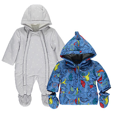 Our padded coats are perfect for little explorers