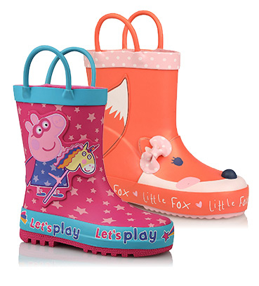 First Walkers wellies come with handles so they're easy to pull on
