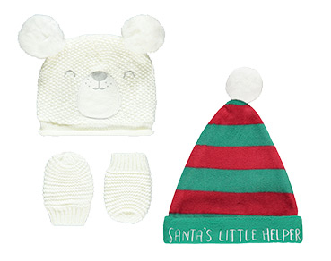 Hats and mittens offer an adorable extra layer of protection against the cold