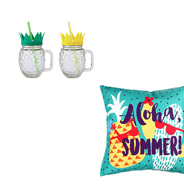 Bring some fruity inspiration outdoors with our pineapple-inspired accessories