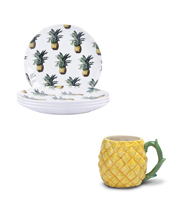 Revitalise your crockery selection with our pineapple dinnerwear range