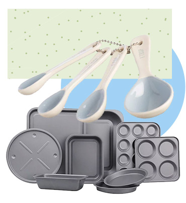 From muffins to birthday cakes, whatever you're baking, this set will have you covered