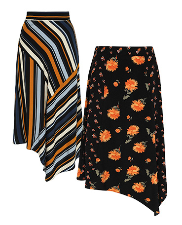 Midi skirts are a great choice on colder nights