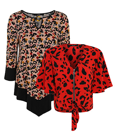 Go for bold patterned tops if you're feeling brave