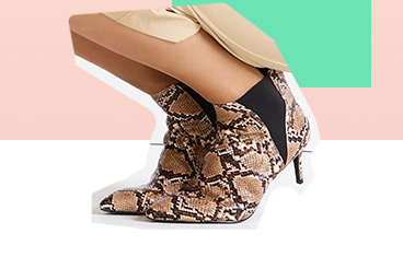 Add an edge to your look and channel this season's snake print