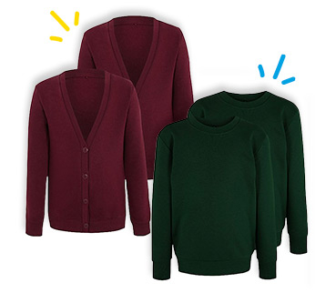 These 2-packs of cardigans and sweatshirts are made with soft fabric and lasting colour
