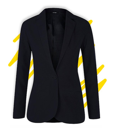 Make a smart addition to her school outfits with this blazer, complete with a Teflon® finish to keep stains at bay