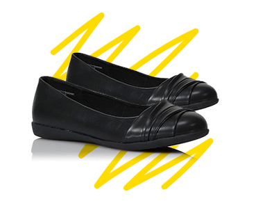 They'll look stylish and smart in these black school shoes