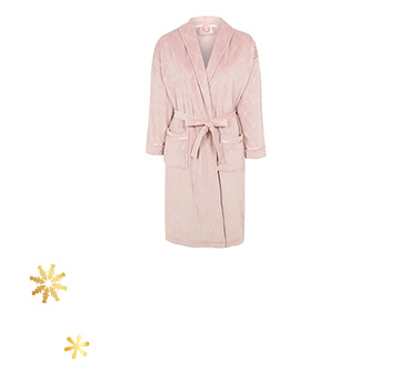 Evenings in will be even cosier with this diamond-textured dressing gown