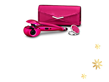 Create perfect curls with this glamorous gift set, which includes a Curl Secret™ Simplicity styler, storage pouch bag and compact mirror