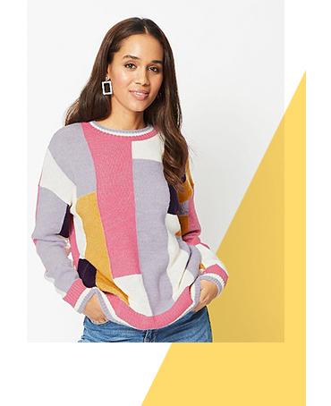 Channel a colour block jumper