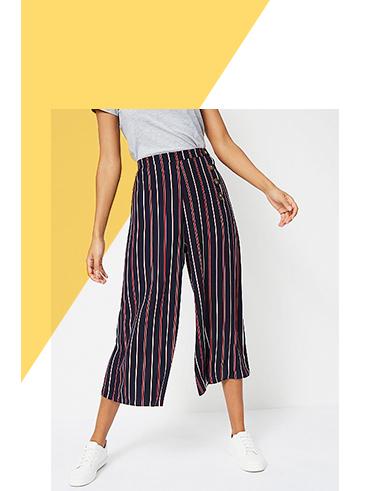 Shop striped culottes