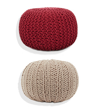 Knitted Pouffes