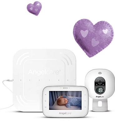 This baby monitor includes a wired Movement Sensor Pad, secure video and audio transmission plus real time display
