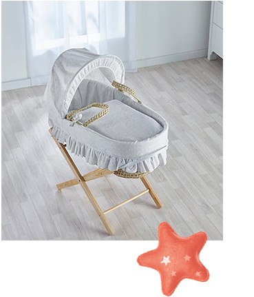 A moses basket is a great way to make sure your baby gets a great night's sleep