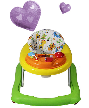 Keep your little one entertained with this walker, complete with musical electronic activity tray