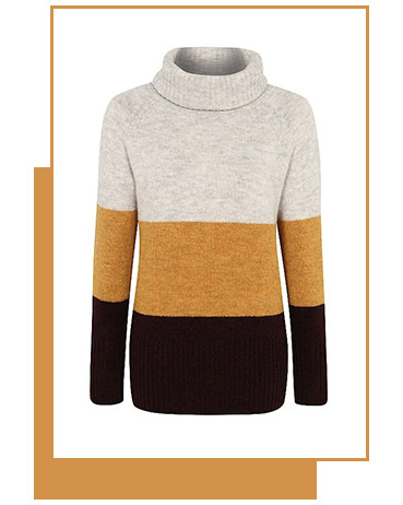 Refresh your knitwear with this cowl neck chunky knit