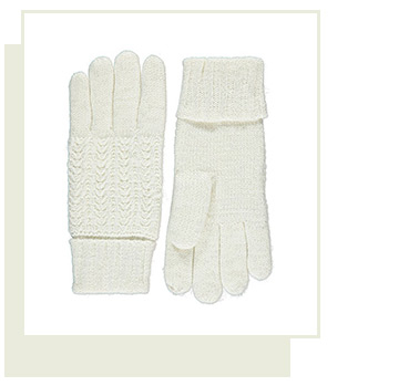 These Thinsulate™ gloves are made from a toasty fabric and covered in sparkles