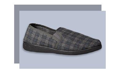 A checked slipper