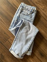 Pair of denim jeans