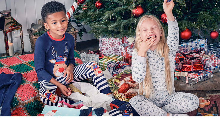 Shop girls' and boys' pyjamas, nightgowns and slippers