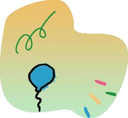 confetti & balloon illustration