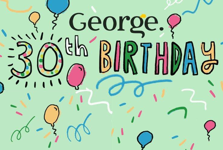 George 30th Birthday banner