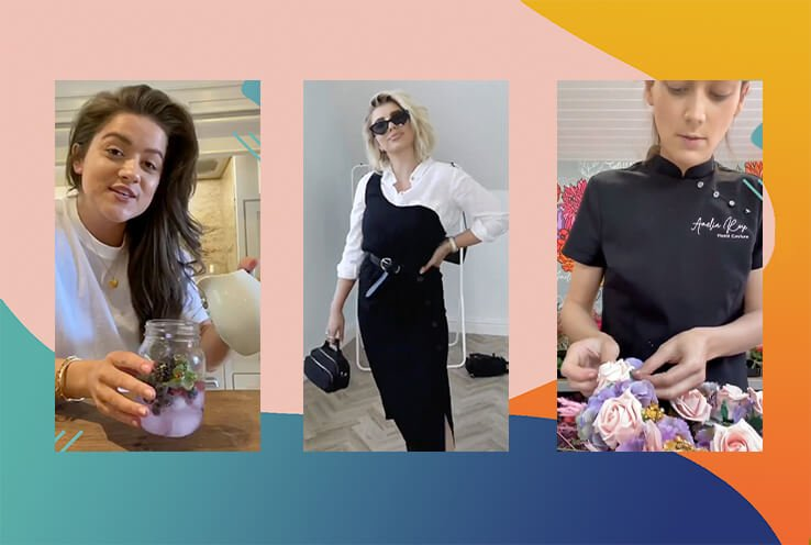 Shots of Georgie Halfacree, Olivia Bowen and Amelia Rose from their George Festival tutorials