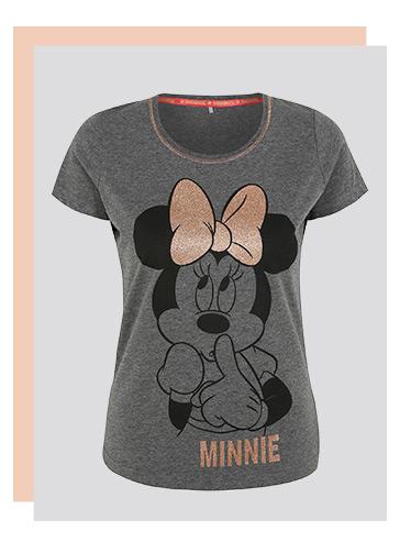 Women's Grey Disney Minnie Pyjamas