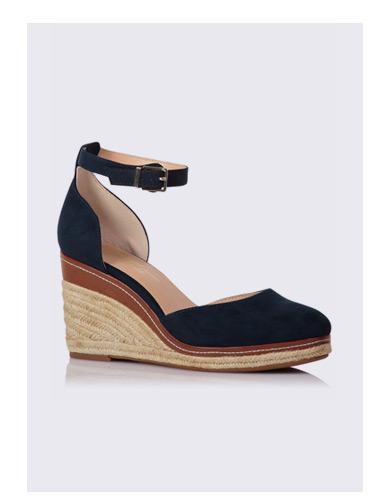 Round Toe Wedge Heeled Sandals