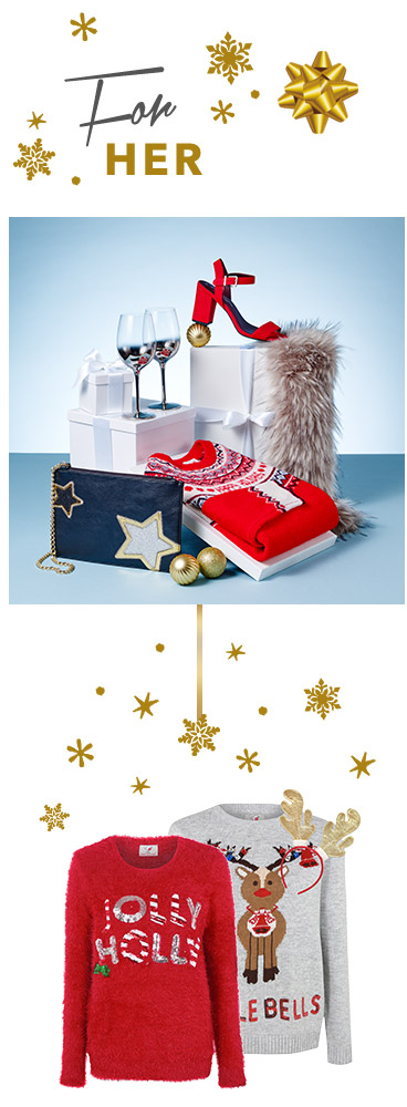 Shop women's Christmas jumpers, pyjamas and accessories