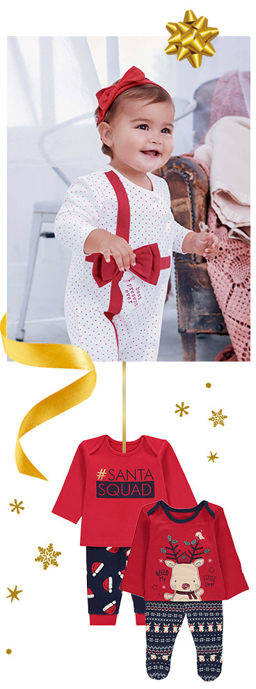 Kit the little ones out this Christmas with our baby festive shop