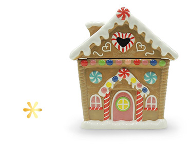 For those with a sweet tooth, we've got a Gingerbread house-shaped cookie jar
