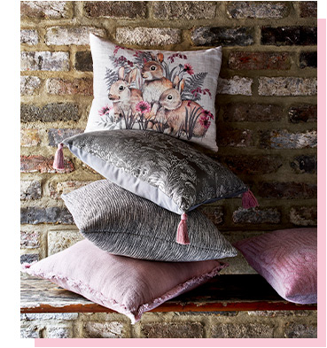 Update the home with our stylish range of cushions