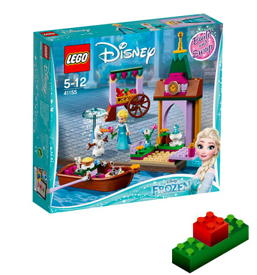 This Frozen LEGO set includes a market stall with wheels, mini Elsa and Olaf minifigures and much more