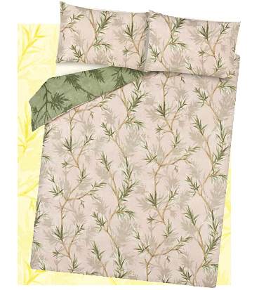 This reversible duvet set comes in a beautiful bamboo print that'll have you dreaming of far-away adventures
