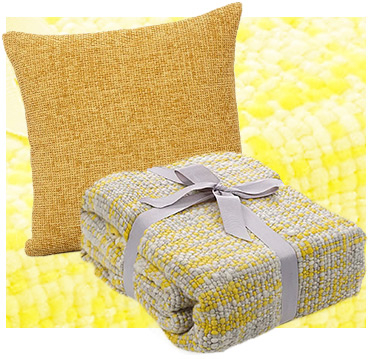 Cushions and throws are ideal for creating a snuggly environment