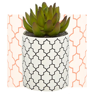 This faux succulent arrangement comes without the hassle of watering