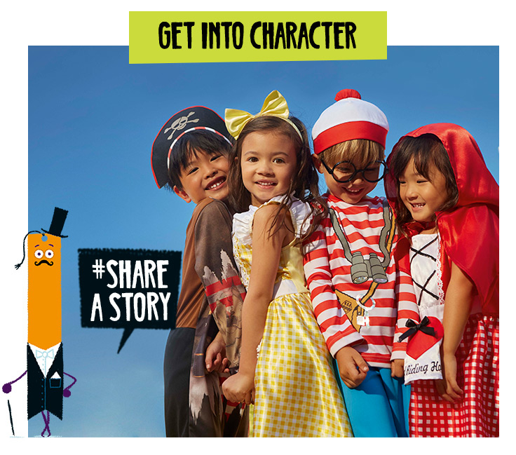 From Red Riding Hood to Where's Wally? Shop our range of costumes