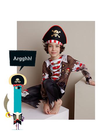 Shop pirate costume