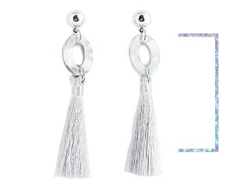 Add tassel drop earrings to complete your look