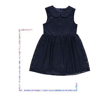 Dress your little one in a matching lace dress