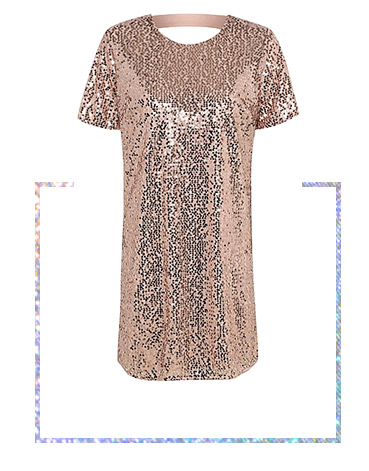 Sparkle and shine in this sequin shift dress