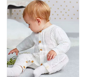Dress your little one in a chunky knit all-in-one