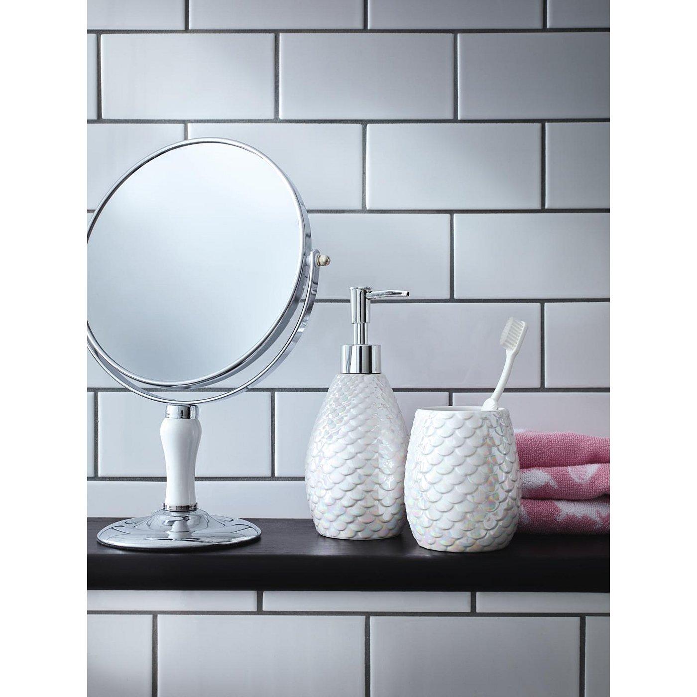 The best 100 metallic bathroom accessories image for Best bathtub accessories