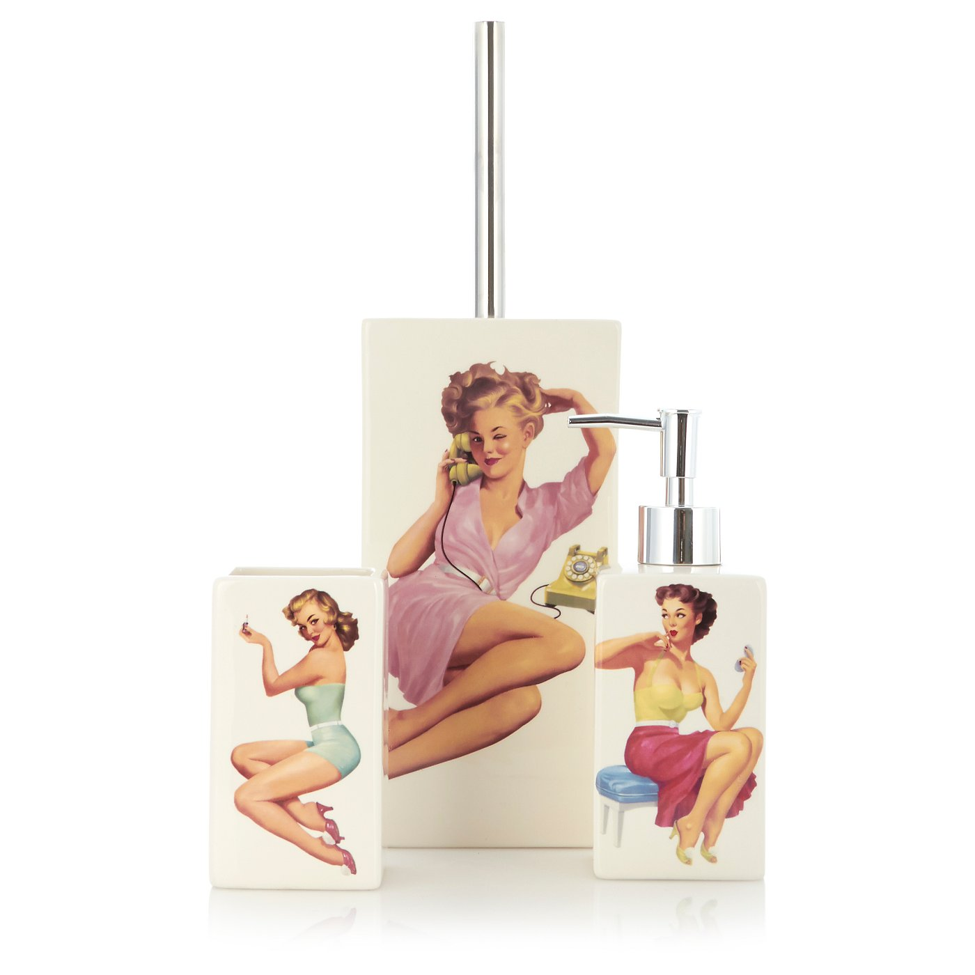 Pin Up Girl Bathroom Accessories | Bathroom Accessories | George at ASDA