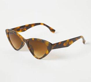 Tortoise shell effect cat eye sunglasses