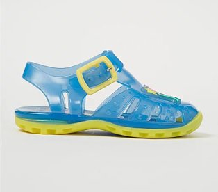 First walkers Peppa Pig George blue jelly sandals.