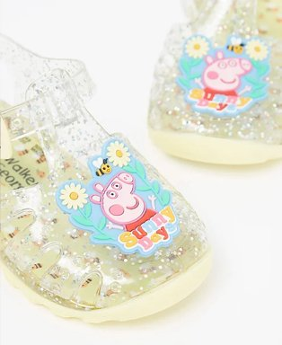 First walkers Peppa Pig clear jelly shoes.